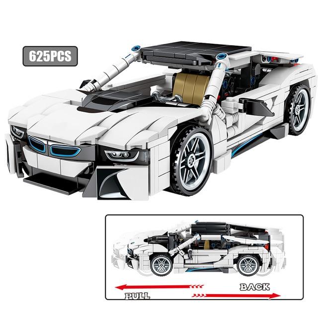 SEMBO 701603 Juggernaut Hurricane: BMW I8 Coupe Pull Back Car