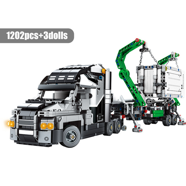 SEMBO 703940 Mechanical code: gray container truck Technic