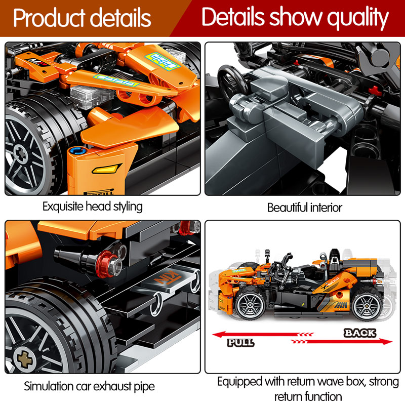 SEMBO 701405 KTM X-BOW GT Pull Back Car Technic