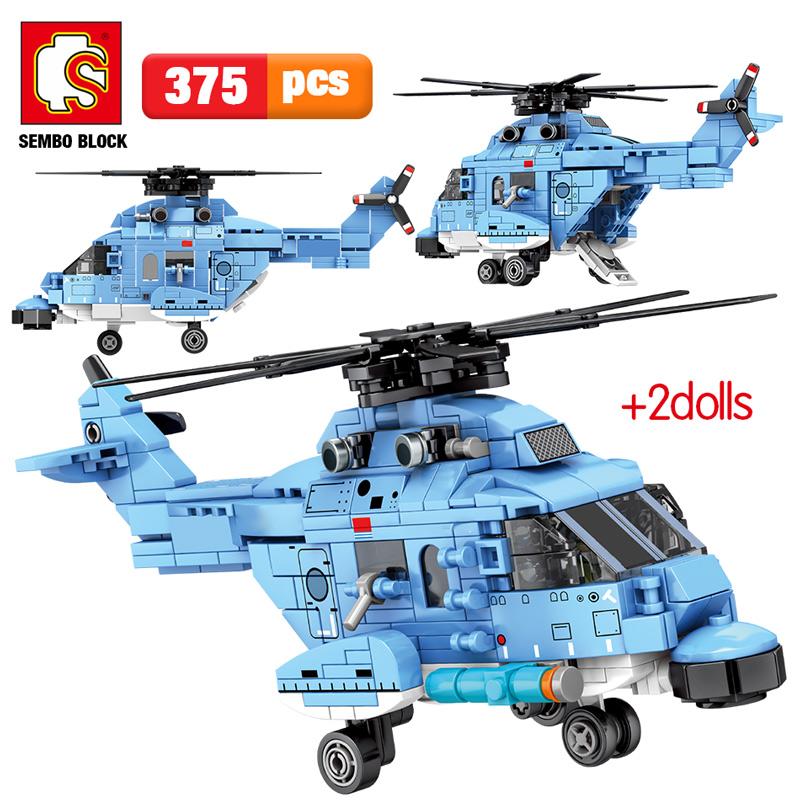 SEMBO 202051 Shandong Jianwenchuang: Zhi-18 general purpose helicopter Technic