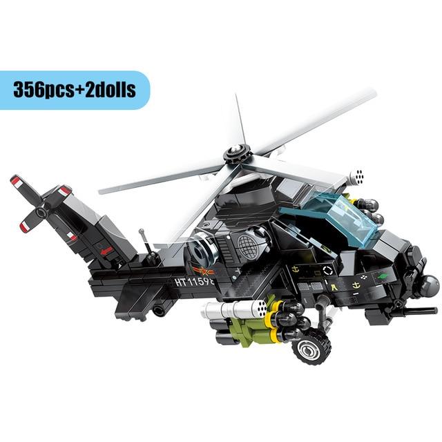 SEMBO 202122 Z-10 Attack Helicopter Technic