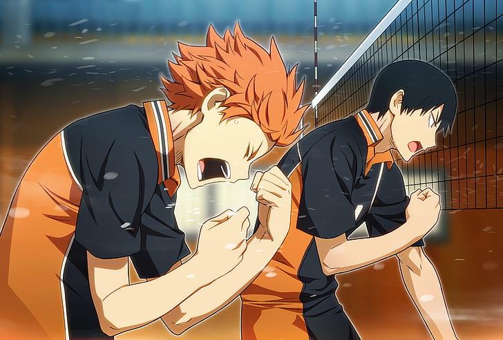 HD wallpaper: Haikyuu!!, anime boys, Hinata Shouyou, Kageyama Tobio   Wallpaper Flare